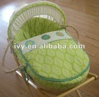 embroidery cotton fabric baby bassinet