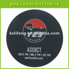 90mm*90mm*4mm Soft pvc coaster gift item