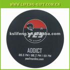90mm*90mm*4mm Soft pvc coaster gift item