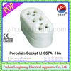 Socket LH357A 10A porcelain/ceramic socket desktop socket