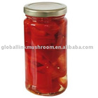 canned red pepper in galss jar