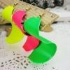 2012 new design fluorescence color earring for women