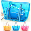 blue pvc beach towel bag