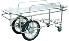 stainless steel big-small wheel stretcher trolley