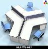 2012 Latest design melamine office partition HLF-WS007