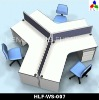 2012 Latest design melamine office partition HLF-WS007