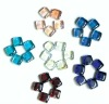 wholesale colored square flat glass marbles for home decoration