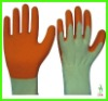 Wrinkle 13N/21N Nylon Safety Working Latex Coated Gloves For Industry
