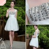 The newest silver sleeveless ball gown coaktail dress 2012