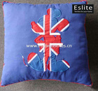 100% Cotton Union Jack Applique Cushion