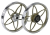 Aluminum motorcycle wheel for street bikes