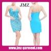 2012 1 piece women casual fashion dress/blue