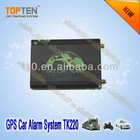 2 way gsm gps car tracker with alarm TK220, open/close car door remotely, avaliable for fuel level sensor