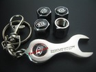 for KIA auto Tyre Valve Caps 4pcs + wrench key chain wholeset(FD-CAP-KIA)