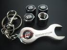 for KIA auto Tyre Valve Caps 4pcs + wrench key chain wholeset(FD-CAP-KIA)