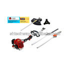 Muti-function Gas brush cutter 7 in1/5in1/4 in1/26cc/33cc grass trimmer