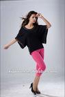 Fashion ladies summer bats sleeve 100%cotton loose t shirt printed