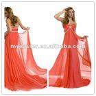 Chiffon Deep V-neck Ruffled Colorful Elegant Tony Bowls Evening Dress 2012
