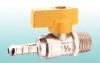 brass ball valve with yellow hand