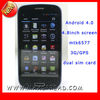 3g android dual sim cellphone 4.8'' screen