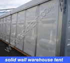 warehouse tent 20x40m in solid wall and steel rolling door