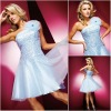 JR0123 One Strap Simple Little Blue Teenage Fashionable Korean Cocktail Dress