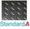 Rhomboid rubber matting