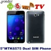 5 inch MTK6575 Dual Simcard slot Smart Phone N8000 with 3G/GPS/Bluetooth/TV/FM Radio