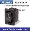 Arcolectric 3 Position Miniature Rocker Switch: X8670VB