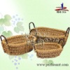 promotion handmade natural straw flower basket