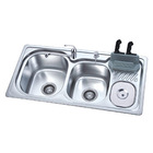 Drop in double bowl kitchen sink KN-HF 890 x 450 x 200mm