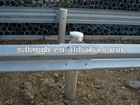 galvanized highway guardrail