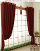 QC17099 100% polyester plain luxury curtain fabric