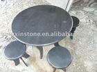 Top Enduring Slate Stone Furniture Set Tea Table & Bench