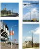 Fiberglass (FRP/GRP) lighting pole, flag pole,
