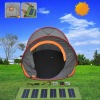 Solar Family Camping Tent with Flexible Solar Panel