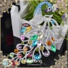 """2012 new trendy ladies women peacock crystal hair barrette , Gorgeous Full-jewelled Peacock Alloy Hair Barrette"