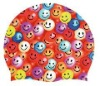 Smile face funny silicone swimming cap
