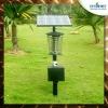 Outdoor 18 Watts UV solar garden lamp mosquito killer machine with solar panel