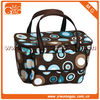 trendy basket cooler bag with two side mesh bag