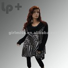 2012 new fashion scarf neck printed winter tunic