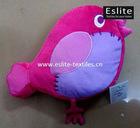 100% Polyester Plush Applique Bird Cushion