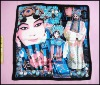 classical dramas of China silk square scarf NUS01F098