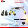 Y Aviation plug conversion cable for car rearview system, reversing system