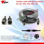 20M Aviation plug cable for car rearview system, reversing system