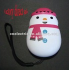 1 LED snowman hand press flashlight