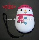 1 LED snowman hand press flashlight