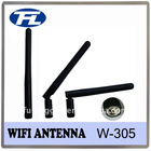 SMA RP WLAN antenna 2.4GHz flexible thumb