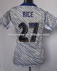 Womens Zebras RAVENS sportswear RICE White Jerseys Authentic Football Sports jersey S-XXL Wholesale Mixed Order - ALL are