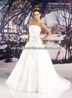 Strapless Beaded Applique Bodice Full Tulle Skirt Chapel Train New Model Wedding Dress 2013